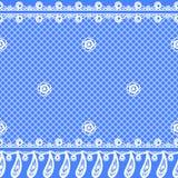 Textura inconsútil del vector con diseño y las fronteras del cordón ilustración del vector