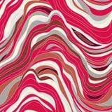 Textura inconsútil del vector con las ondas Fotografía de archivo