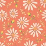 Textura inconsútil del vector Diseño floral del bordado con los camomiles Modelo de flores en colores pastel decorativo libre illustration