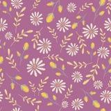 Textura inconsútil del vector Diseño floral del bordado con los camomiles Modelo de flores en colores pastel decorativo stock de ilustración