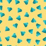 Textura inconsútil del vector lindo con los diamantes en fondo amarillo Imagen de archivo