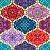 Textura inconsútil del vector Modelo de mosaico mega hermoso del remiendo para el diseño y moda con los elementos decorativos ilustración del vector