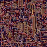 Textura inconsútil del vector - tarjeta de circuitos stock de ilustración