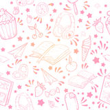 Textura inconsútil del verano festivo Imagen de archivo libre de regalías