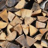 Textura inconsútil - madera de abedul en woodpile Vintage natural rural Fotografía de archivo