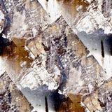 Textura inconsútil marrón del Grunge del hierro con un lugar Foto de archivo libre de regalías