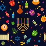 Textura inconsútil - modelo para el día de fiesta judío de Jánuca