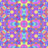 Textura inconsútil o fondo del mosaico caleidoscópico Fotos de archivo libres de regalías