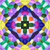 Textura inconsútil o fondo del mosaico caleidoscópico Imagen de archivo libre de regalías