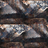 Textura inconsútil oxidada del Grunge del hierro con el lugar Imagenes de archivo