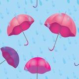 Textura inconsútil para el tiempo lluvioso con el paraguas Fotografía de archivo