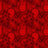 Textura inconsútil roja de Paisley Fotos de archivo