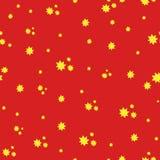 Textura inconsútil roja y amarilla Fotos de archivo