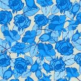Textura inconsútil con las rosas elegantes, elegantes tejido o embalaje Foto de archivo