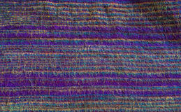 Textura indiana roxa de pano Fotografia de Stock