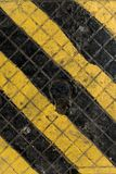 Textura industrial amarela e preta Imagens de Stock Royalty Free