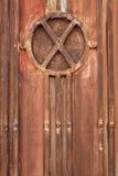 Textura industrial de la puerta del metal Fotografía de archivo libre de regalías
