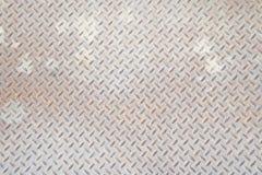 Textura industrial suja do fundo da placa do verificador com Rusty Wo Fotografia de Stock
