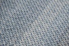 Textura industrial suja do fundo da placa do verificador com Rusty Wo Fotos de Stock