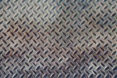 Textura industrial suja do fundo da placa do verificador com Rusty Wo Imagens de Stock Royalty Free