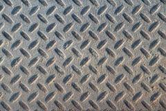 Textura industrial suja empoeirada do fundo da placa do verificador com Ru Imagem de Stock Royalty Free