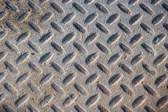 Textura industrial suja empoeirada do fundo da placa do verificador com Ru Imagens de Stock Royalty Free