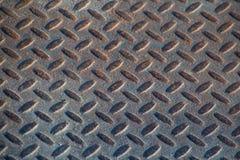 Textura industrial suja empoeirada do fundo da placa do verificador com Ru Foto de Stock