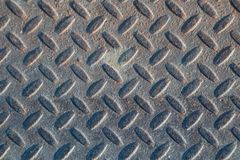 Textura industrial suja empoeirada do fundo da placa do verificador com Ru Fotos de Stock