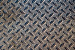 Textura industrial suja oxidada do fundo da placa do verificador com Ru Imagens de Stock