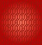 Textura infinita decorativa do vime vermelho geométrico sem emenda do fundo da rede do teste padrão para a matéria têxtil do proje ilustração do vetor