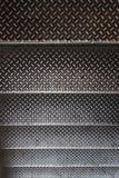 Textura inoxidable de la escalera foto de archivo libre de regalías