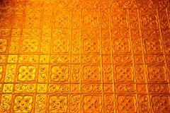 Textura interior en pagoda del paya de Botataung en Rangoon, Myanmar Fotos de archivo