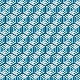 Textura isométrica geométrica abstracta cúbica inconsútil del fondo del modelo libre illustration