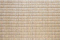 Textura japonesa de la estera de tatami Imagen de archivo