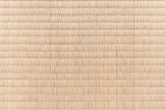 Textura japonesa de la estera del suelo del tatami Imagen de archivo