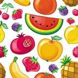 Textura jugosa inconsútil de la fruta Fotografía de archivo libre de regalías