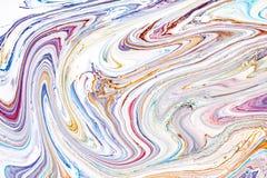 Textura líquida de acrílico del extracto Las ilustraciones modernas con manchan y salpican de la pintura del color Aplicable para ilustración del vector