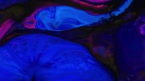 Textura líquida del concepto de los arty del modelo de la pintura abstracta del color metrajes