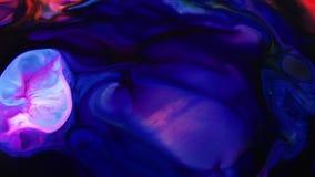 Textura l?quida del concepto de los arty del modelo de la pintura abstracta del color almacen de metraje de vídeo