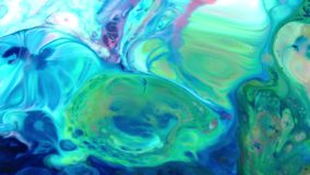 Textura l?quida del concepto de los arty del modelo de la pintura abstracta del color almacen de video