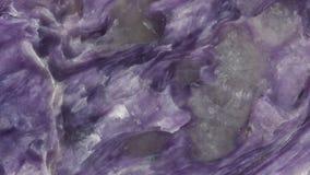 Textura lisa pulida de la piedra del charoite Imagenes de archivo