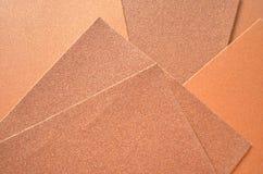 Textura lisa y áspera del papel de lija Foto de archivo