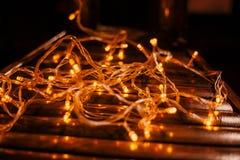Textura llevada de las luces fotos de archivo