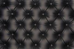 Textura lujosa del cuero del negro-tono Imagen de archivo libre de regalías