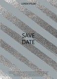 Textura lustrosa de prata Teste padrão metálico Fundo argento do Grunge ilustração royalty free