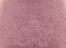 Textura lustrosa metálica do ouro Teste padrão de quartzo de Rosa Fundo brilhante abstrato Fundo efervescente luxuoso ilustração royalty free