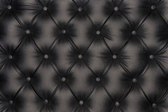 Textura luxuoso do couro do preto-tom Imagem de Stock Royalty Free