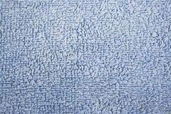 Textura macia azul de toalha de banho do algodão Fotografia de Stock