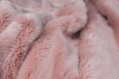 Textura macia cor-de-rosa da manta imagens de stock royalty free