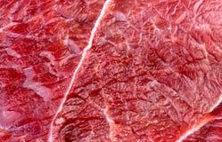 Textura macra del fondo del primer de la carne roja del cordero de la carne de vaca Imagen de archivo